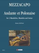 Mezzacapo, Eduardo : Andante et Polonaise for 2 Mandolins, Mandola and Guitar