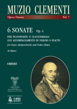 Clementi, Muzio : 6 Sonatas Op. 4 for Piano (Harpsichord) and Violin (Flute)