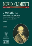 Clementi, Muzio : 2 Sonatas Op. 6 for Piano (Harpsichord) and Violin