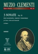 Clementi, Muzio : 3 Sonatas Op. 29 for Piano (Harpsichord), Violin (Flute) and Violoncello