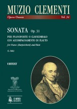 Clementi, Muzio : Sonata Op. 31 for Piano (Harpsichord) and Flute