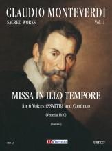 Monteverdi, Claudio : Missa In Illo Tempore for 6 Voices (SSATTB) and Continuo (Venezia 1610) [Score]
