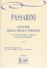 Passarini, Camillo Francesco : Letanie della Beata Vergine for 5 Voices (SSATB), 2 Violins and Continuo [Score]