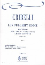 Cribelli, Arcangelo : Lux Fulgebit Hodie. Motet (Roma 1607) for 8-part Choir (SATB-SATB) and Continuo [Score]