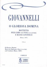 Giovannelli, Ruggero : O Gloriosa Domina. Motet (Roma 1607) for 8-part Choir (SATB-SATB) and Continuo [Score]