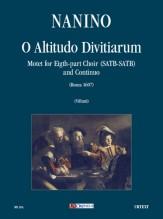 Nanino, Giovanni Maria : O Altitudo Divitiarum. Motet (Roma 1607) for 8-part Choir (SATB-SATB) and Continuo [Score]