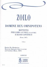 Zoilo, Cesare : Domine Rex Omnipotens. Motet (Roma 1607) for 8-part Choir (SATB-SATB) and Continuo [Score]