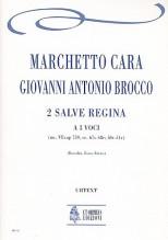Cara, Marchetto - Brocco, Giovanni Antonio  : 2 Salve Regina for 3 Voices [Score]