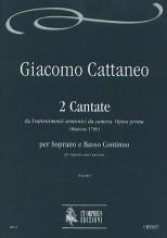 """Cattaneo, Giacomo : 2 Cantatas from """"Trattenimenti armonici da camera"""". Opera prima (Modena 1700) for Soprano and Continuo"""