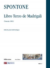 Spontone, Bartolomeo : Libro Terzo de Madrigali (Venezia 1583)