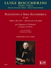 """Boccherini, Luigi : Recitativo e Aria accademica G 548 """"Misera, dove son!"""" – """"Ah! non son io che parlo"""" for Soprano and Orchestra [Score]"""