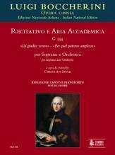 """Boccherini, Luigi : Recitativo e Aria accademica G 554 """"Di giudice severo"""" – """"Per quel paterno amplesso"""" for Soprano and Orchestra [Vocal Score]"""