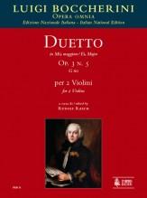 Boccherini, Luigi : Duetto Op. 3 No. 5 (G 60) in E flat Major for 2 Violins