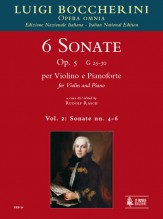 Boccherini, Luigi : 6 Sonatas Op. 5 (G 25-30) for Violin and Piano - Vol. 2: Sonatas Nos. 4-6