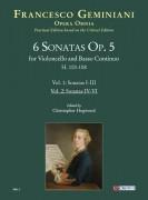 Geminiani, Francesco : 6 Sonatas Op. 5 (H. 103-108) for Violoncello and Basso Continuo - Vol. 2: Sonatas IV-VI