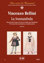 Bellini, Vincenzo : La Sonnambula. Early transcriptions of Celebrated Pieces for Piano