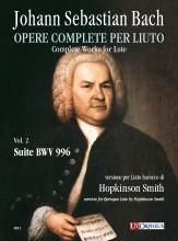 Bach, Johann Sebastian : Suite BWV 996 for Baroque Lute