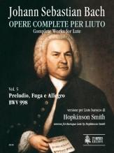 Bach, Johann Sebastian : Prelude, Fugue and Allegro BWV 998 for Baroque Lute