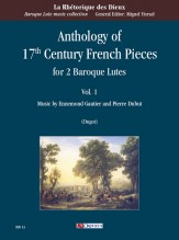 Anthology of 17th Century French Pieces for 2 Baroque Lutes - Vol. 1