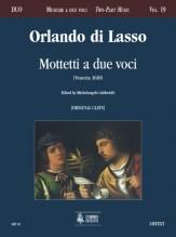 Lasso, Orlando di : Mottetti a due voci (Venezia 1610) [original clefs]