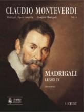 Monteverdi, Claudio : Madrigali. Libro IV (Venezia 1603) [original clefs] [Score]