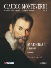 Monteverdi, Claudio : Madrigali. Libro IX (Venezia 1651) [original clefs] [Score]