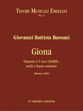 Bassani, Giovanni Battista : Giona. Oratorio for 5 Voices (SSATB), Strings and Continuo (Modena 1689)