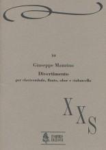 Manzino, Giuseppe : Divertimento for Harpsichord, Flute, Oboe and Violoncello (1989)