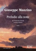 Manzino, Giuseppe : Preludio alla notte for String Orchestra (1979) [Score]