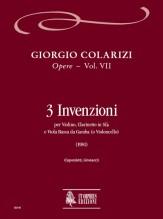 Colarizi, Giorgio : 3 Inventions for Violin, Clarinet and Bass Viol (Violoncello) (1981)