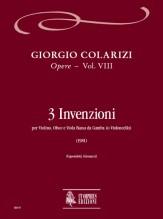 Colarizi, Giorgio : 3 Inventions for Violin, Oboe and Bass Viol (Violoncello) (1981)