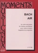 Bach, J.S. : Aria dalla Suite n. 3 per Orchestra d'Archi, arrangiamento per Violino e Pianoforte