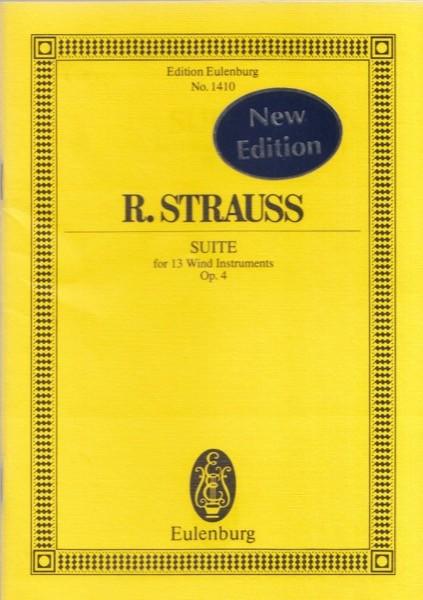 Strauss, Richard : Suite op. 4, per 13 strumenti a fiato. Partitura tascabile