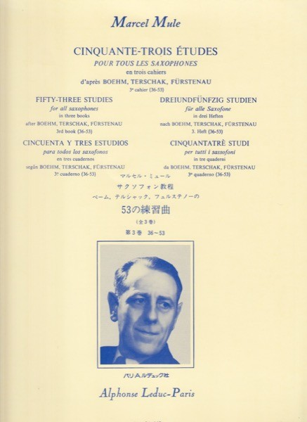Mule, M. : 53 Esercizi o Studi per Sax, vol. III