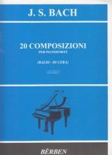 Bach, Johann Sebastian : 20 Composizioni per pianoforte. Urtext