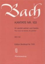 Bach, J.S. : Cantata BWV 103, Ihr werdet weinen und heulen, per Canto e Pianoforte