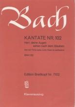 Bach, J.S. : Cantata BWV 102, Herr, deine Augen sehen nach dem Glauben, per Canto e Pianoforte