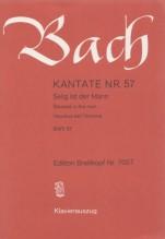 Bach, J.S. : Cantata BWV 57, Selig ist der Mann, per Canto e Pianoforte