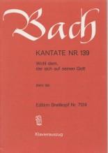 Bach, J.S. : Cantata BWV 139, Wohl dem, der sich auf Seinen Gott, per Canto e Pianoforte