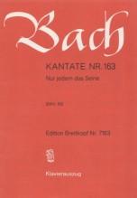 Bach, J.S. : Cantata BWV 163, Nur jedem das Seine, per Canto e Pianoforte