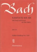 Bach, J.S. : Cantata BWV 125, Mit Fried' unf Freud ich fahr'dahin, per Canto e Pianoforte