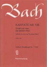 Bach, J.S. : Cantata BWV 126, Erhalt uns, Herr, bei deinem Wort, per Canto e Pianoforte