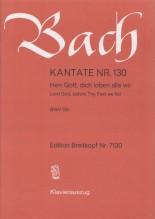 Bach, J.S. : Cantata BWV 130, Herr Gott, dich loben alle wir, per Canto e Pianoforte