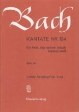 Bach, J.S. : Cantata BWV 134 Ein Erz, das seinen Jesum lebend weiss, per Canto e Pianoforte