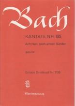 Bach, J.S. : Cantata BWV 135, Ach Herr, mich armen Sünder, per Canto e Pianoforte