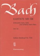 Bach, J.S. : Cantata BWV 136, Erforsche mich, Gott, und erfahre mein Herz, per Canto e Pianoforte