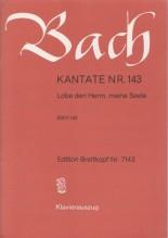Bach, J.S. : Cantata BWV 143, Lobe den Herrn, meine Seele, per Canto e Pianoforte