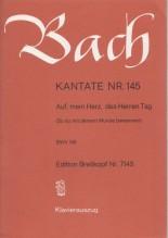 Bach, J.S. : Cantata BWV 145, Auf, mein Herz, das Herren Tag, per Canto e Pianoforte