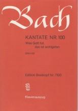 Bach, J.S. : Cantata BWV 100, Was Gott tut, das ist wohlgetan per Canto e Pianoforte