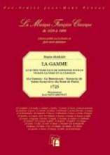 Marais, M. : La Gamme et autres morceaux de simphonie pour le violon, le viole et le clavecin. Facsimile